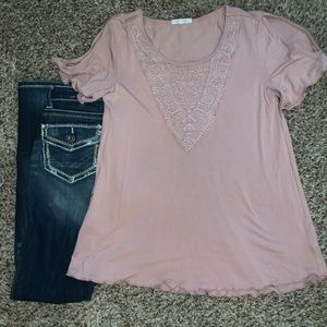 Cute Pink Lace Top